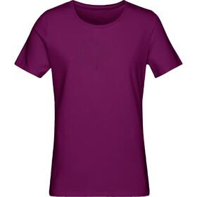 Norrøna /29 Cotton Logo T-shirt Dam dark purple